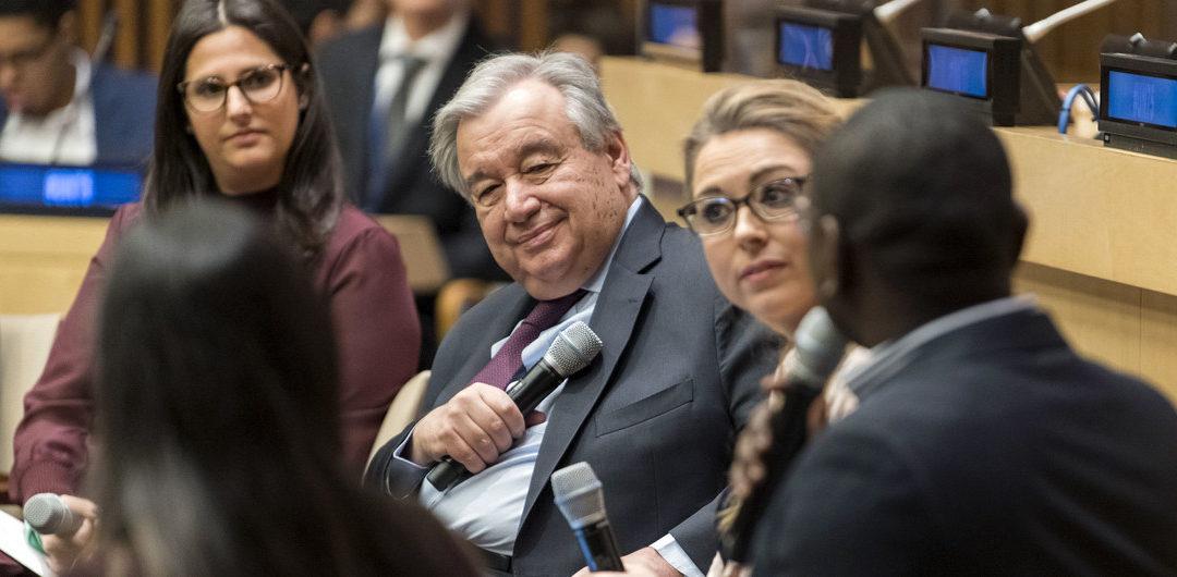Tengan la seguridad de que sus opiniones se tomarán en cuenta, dice Guterres a los jóvenes